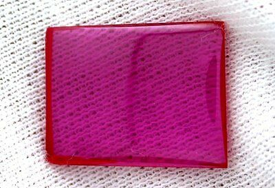 ONE 20mm x 15mm Flat Rectangle Synthetic Ruby Corundum Cab Cabochon Gemstone Gem