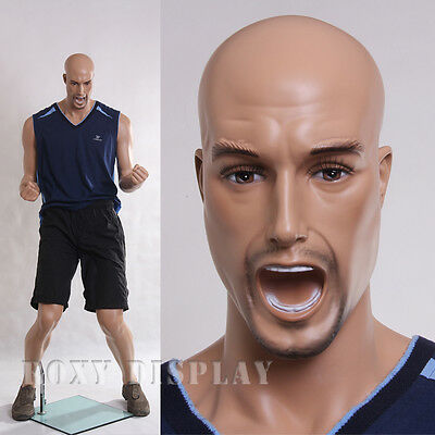 Fiberglass Male Sports Mannequin Manequin Manikin Dress Form Display #MZ-PW1