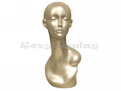 Female Mannequin Egg Head Bust Wig Hat Jewelry Display #MD-TinaS