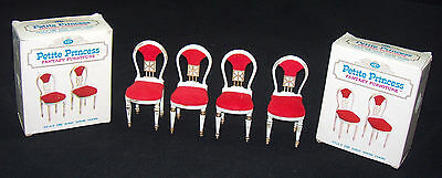 Set of 4 Vintage Ideal Petite Princess Guest Dining Chairs With Boxes #4414-9