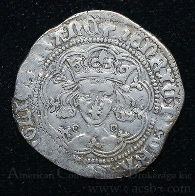Great Britain 1 Groat (1422-30)ND VF/EF silver Spink#1836 Henry VI Golden Tone.