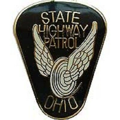 OH  OHIO STATE HIGHWAY PATROL PATCH MINI BADGE PIN - NEW POLICE PIN