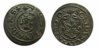 1650 Riga (Sweden) Silver Solidus-over 350 years old