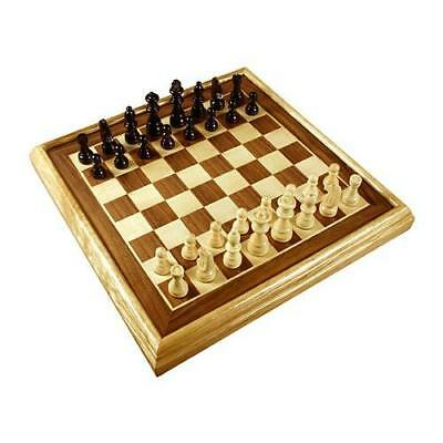 """16"""" Deluxe Inlaid Wood Chess Set w/Pieces New"""
