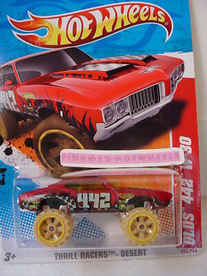 2011 Hot Wheels Thrill OLDS 442 W-30 #185∞Satin Red∞Oldsmobile