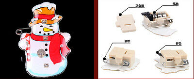 snowman red scarf LED Flashing Light Up Badge/Brooch Pins Christmas party gifts