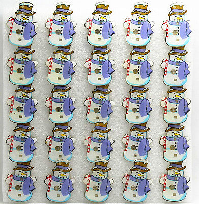 snowman blue scarf LED Flashing Light Up Badge/Brooch Pins Christmas party gifts