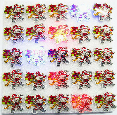 Lot cartoon cats LED Flashing Light Up Badge/Brooch Pins children party gifts