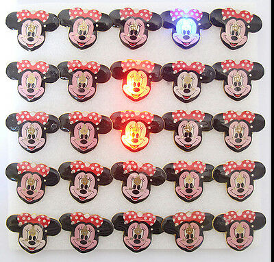 New Lot Disney minnie LED Flashing Light Up Badge/Brooch Pins party gifts