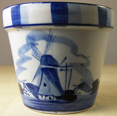 Hand Painted Delft Blue Small Pot