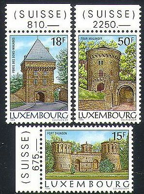 Luxembourg 1986 Fort/Fortifications/Military/Buildings/Architecture 3v (n34068)