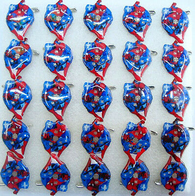 Lot spider-man LED Flashing Light Up Badge/Brooch Pins Halloween party gifts