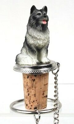 Keeshond  Dog   Wine Stopper