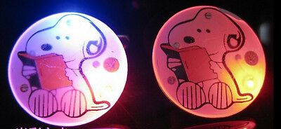 Lot New CUTE dog LED Flashing Light Up Badge/Brooch Pins Party gifts
