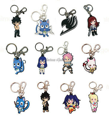 Fairy Tail Official Genuine Anime PVC Key Chain *NEW*