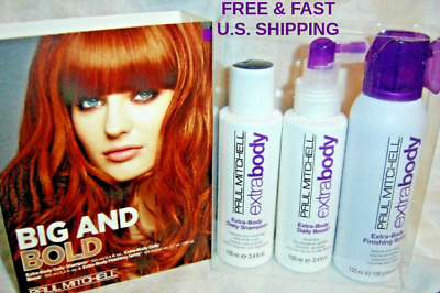 Paul Mitchell**BIG & BOLD**Extra~Body Shampoo/Boost/Finishing Spray SET of 3~NEW