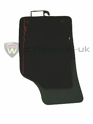 Fiat 500 Car Floor Mats Red Logo Genuine Premium Carpet Full Set Twin Fixings