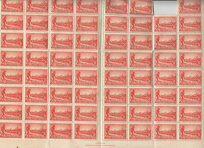 Stamps Australia 2d red Aboriginal issue part sheet of 73 MUH including imprint