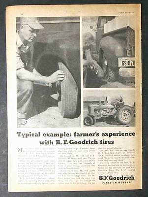 Orig 1948 B F Goodrich Tire  Ad Photo Endorsed by Russell Falk of Red Oak Iowa