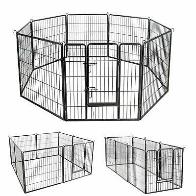 Large 8 Sided Heavy Duty Dog Pet Pen Playpen Exercise Whelping Cage L/XL/XXL