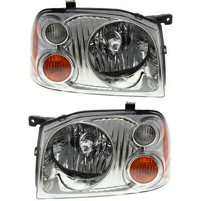 Headlight Set For 2001-2004 Nissan Frontier Base XE Left & Right 2Pc