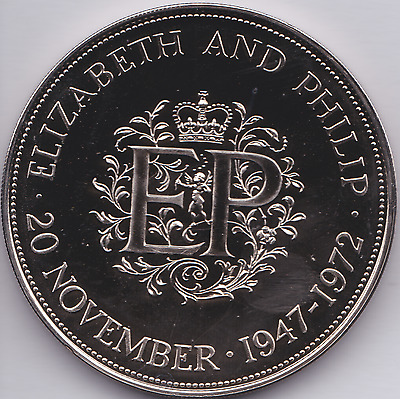 1972 Proof Elizabeth & Phillip EP Crown Coin British
