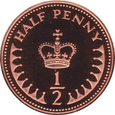 Various Proof 1/2p Coins, Half Penny , 1971-1982 choices British