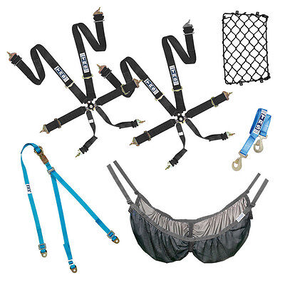 TRS Rally Starter Pack In BLACK 2 x Harnesses, Race / Rally / Track Day / Sprint