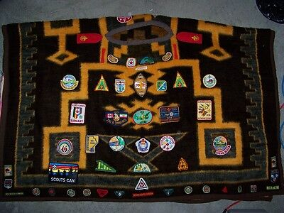 Boy Scouts Canada vintage Poncho 1970s & 1980s with 76 patches from 70s 80s 90s