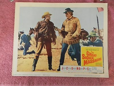 0Riginal 1965 Lobby Card Of The Great Sioux Massacre See Scan Joseph Cotten