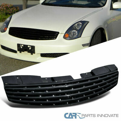 Fit Infiniti 03-07 G35 Skyline 2Dr Coupe Black Front Insert Hood Grille