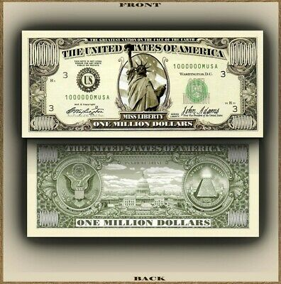 Original $1,000,000 Million Dollar Bill Novelty