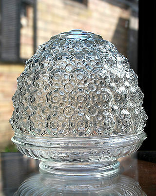 Vintage Mid Century Acorn Pineapple Bubble Glass Fixture Sconce Fitter Shades