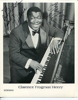 Clarence Frogman Henry Rhythm and Blues Singer Pianist Signed Autograph Photo