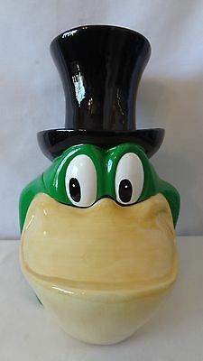 RARE 1997 Vandor Warner Brothers B. Saley Design Michigan Frog Cookie Jar G856