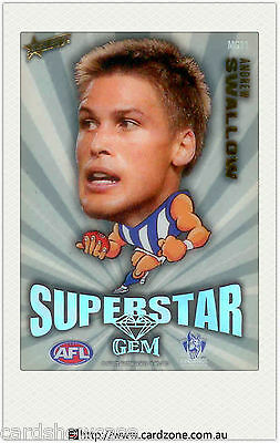 2011 Select AFL Champions Mascot Gem Card MG11 Andrew Swallow (North Melbourne)