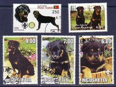 Rottweiler Dogs 5 different stamps ROTT16
