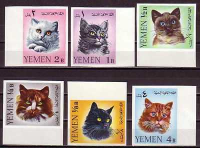 Cat Yemen MNH imperf 6 stamps 1965