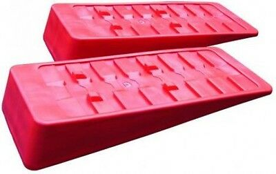 OLPro Caravan and Motorhome Wide Hold Magnum Level Ramps (Pair) - OL137 / Red