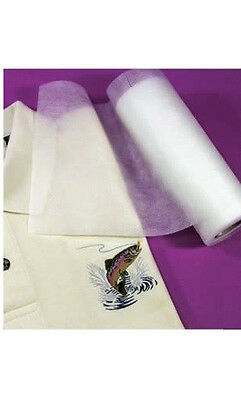 "Fusible No-Show Poly-Mesh Iron On Cut Away Embroidery Stabilizer Backing 8"" X 8"""