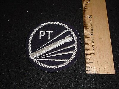 100% Original Wwii Us Navy Pt Boat Patch On Wool Felt Mesh Backed
