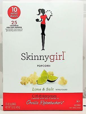 Skinny Girl Lime & Salt Microwave Popcorn 15 oz