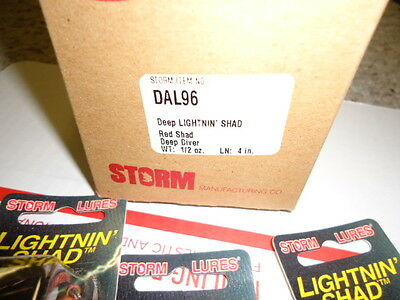 STORM LIGHTNIN SHAD DAL96 SIX PACK NEW OLD STOCK PRE RAPALA lures