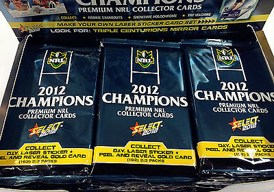 2012 Select NRL Champions Trading Cards Series 4-Sealed Pack Unit