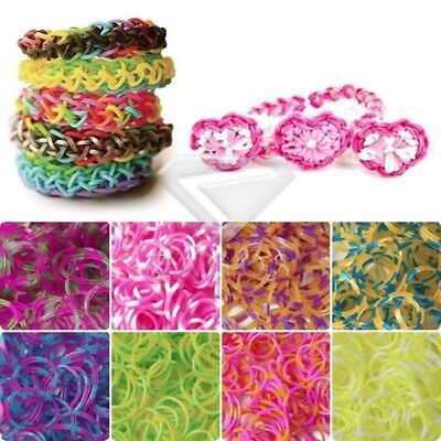 Wholesale DIY 190x 8 Sections Loom Rubber Bands Refill+15x S Clips+1x Loom Hook