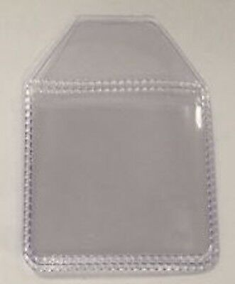 Plastic Clear coin Holders wallets 2 x 2 ( inch) tuck in flap storage £2 £1 50p