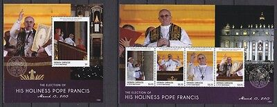 Grenada Carriacou  2013 KB & Block ** MNH Wahl Papst Franziskus Pope Francis