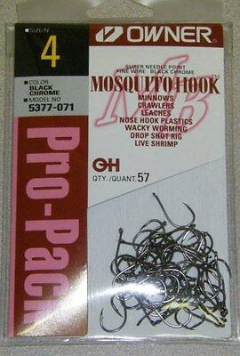 Owner Mosquito Hook Fine Wire Pro Pack #5377-071 Sz 4 Qty 57