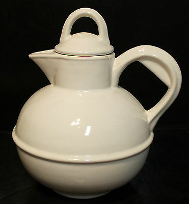 White Teapot Coffee Pot California Pottery Metlox