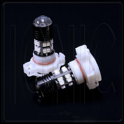 5202 LED 20-SMD White DRL 6000k HID Xenon Cree Projector Lamp Bulb x2 Fog Lights
